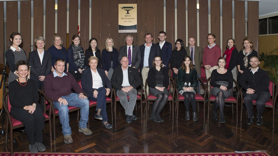 Professor Brian Schmidt and some of the recipients of the Vice-Chancellor's Awards for Excellence in Education