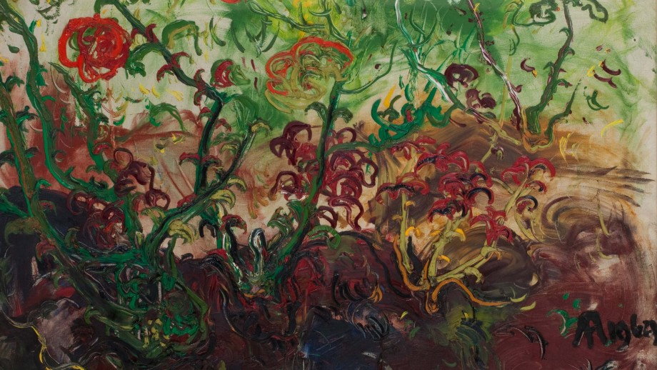 Detail of Unnamed (Flowers) by Affandi.