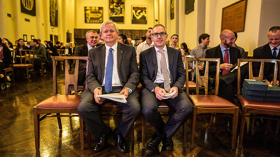 VC and ANU Sport President Mr David Luchetti at ANU blues awards, photo by Eric Powell