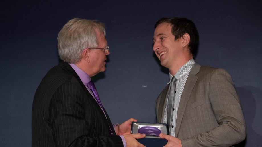 Professor Brian Schmidt with Professor Seth Lazar. Photo by Lannon Harley, ANU.