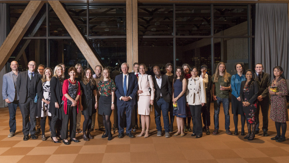 Vice-Chancellor Professor Brian Schmidt and all candidates of the 2019 VC's Awards for Excellence in Education. Photo by Jamie Kidston, ANU.