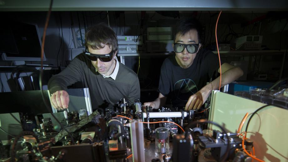Professor Andrey Sukhorukov (left) and Dr Kai Wang (right) at The Australian National University. Image credit: ANU