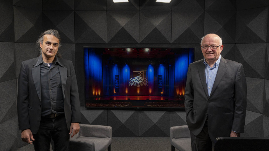 Associate Professor Kim Cunio and Bob McMullan. Photo: Jamie Kidston