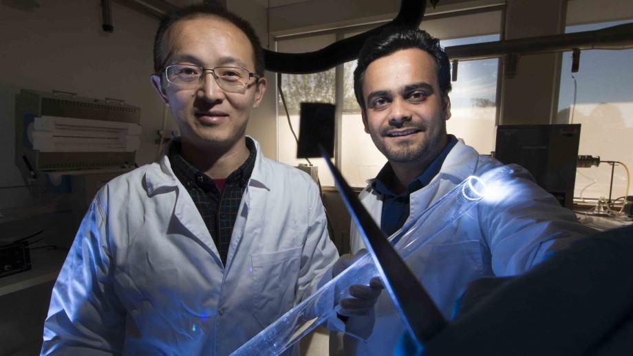 Associate Professor Larry Lu and Dr Ankur Sharma. Image: Jack Fox, ANU