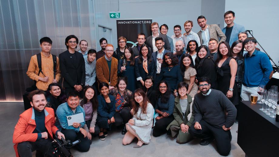 InnovationACT 2019 participants and organising team at InnovationACT 2019: Awards Night