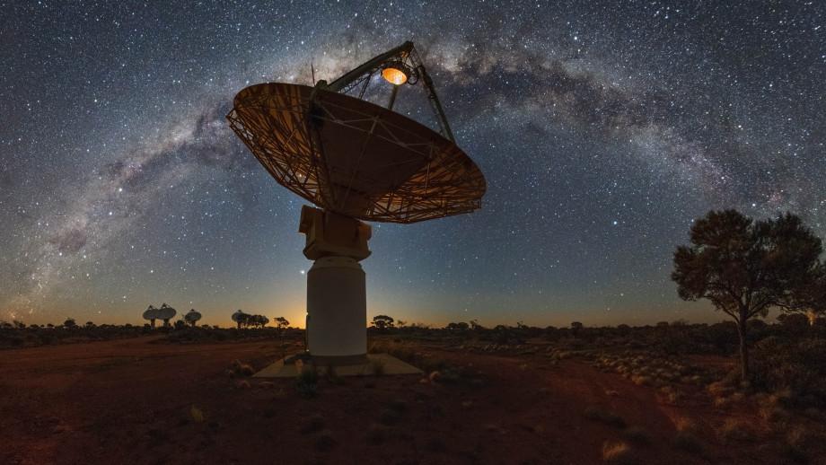 CSIRO's ASKAP radio telescope. Image credit: CSIRO