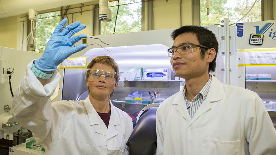 Professor Kylie Catchpole and Dr The Duong. Image: Stuart Hay, ANU