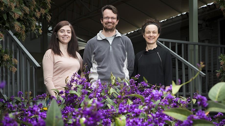 Dr Joanne Wallis, Jeremy Smith and Dr Alexandra Webb. Image: Stuart Hay, ANU.