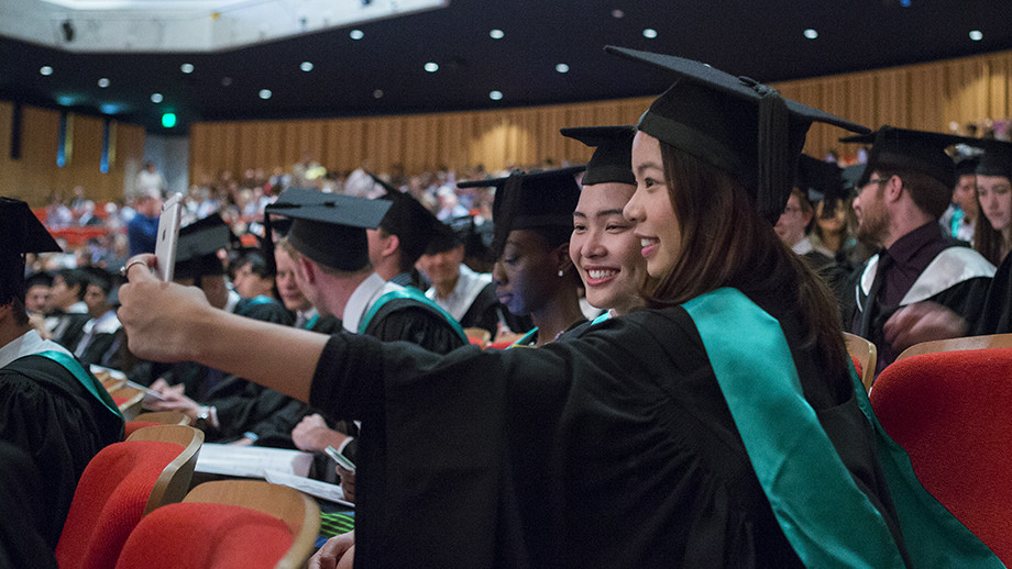 A photo from the December 2016 graduation ceremonies. Congratulations to all of our students who will be graduating next week. Photo by Stuart Hay, ANU.