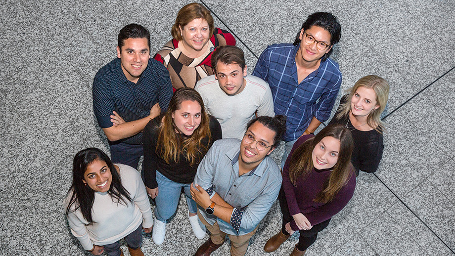 ANU Clear Vision Research Lab team, lead by Dr Riccardo Natoli (back left)