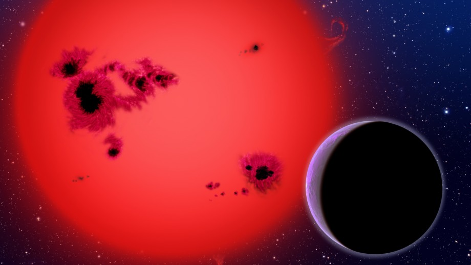 Artist's impression of red dwarf with a giant gas planet. Image: David A Aguilar CfA Harvard-Smithsonian