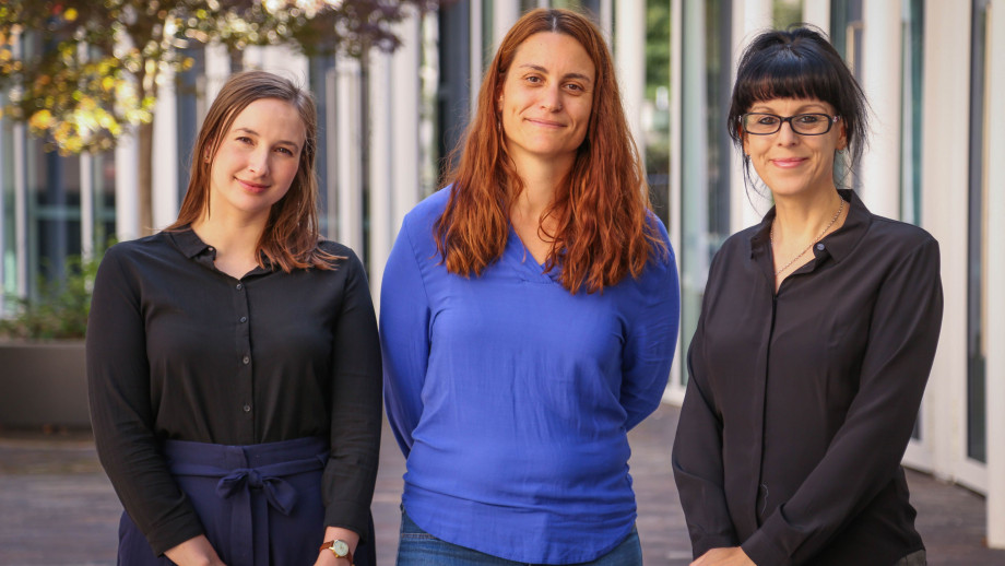 Pictured: Dr Gemma King, Dr Sofia Samper Carro, Professor Sam Bennett