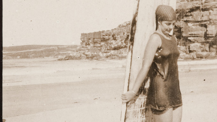 Surfer, Isabel Letham taught Hollywood stars to swim. Image: Warringah Library Service