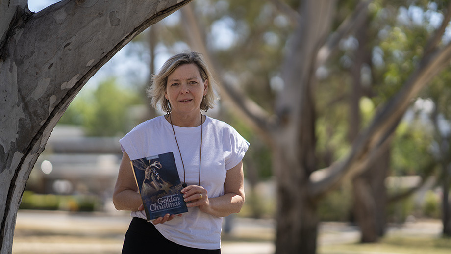 Dr Karen Downing, co-curator of the book. Image Benjamin Keough ANU.