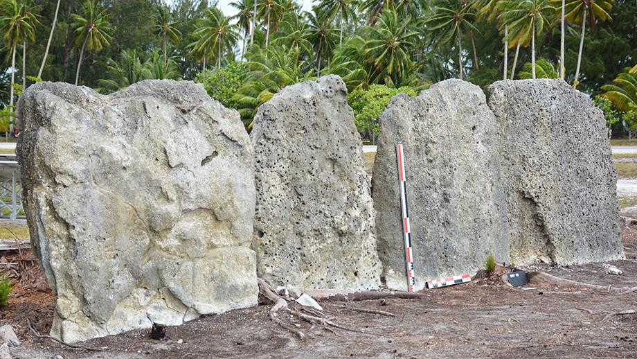 Marae, or ceremonial site, Onetahi, Teti'aroa. Image: Dr Guillaume Molle