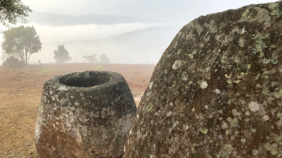 Megalithic jars in Xiengkhouang Province, Laos. Image: ANU