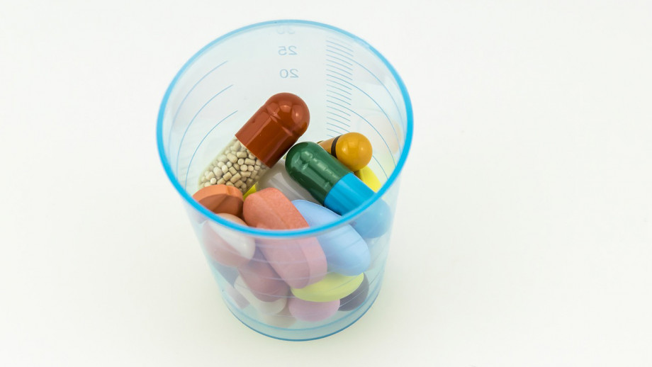 A cup of pills
