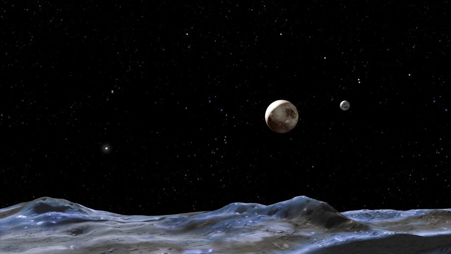 An artist's impression of the surface of Pluto. Image NASA