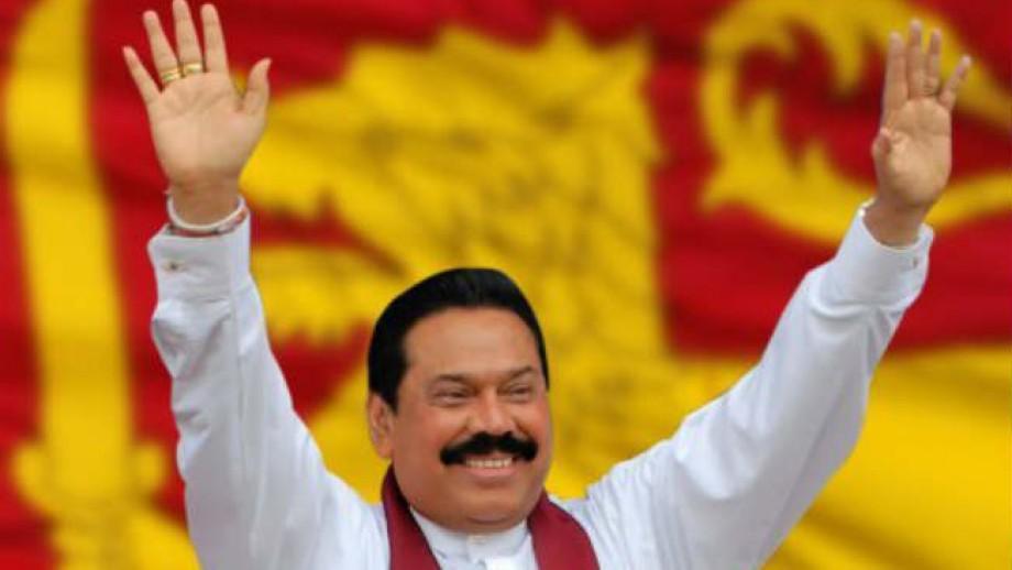 Mahinda Rajapaksa.
