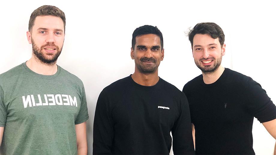 Lanterne Co-Founders Alex Barnes (left), Yohan Iddawela (middle) and Sebastian Mueller (right)