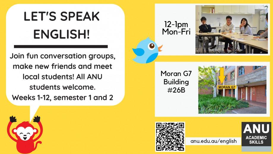 S2 Let's Speak English flyer