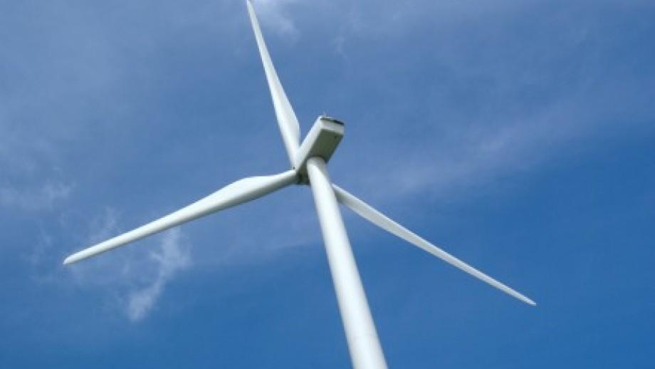 Photo of modern windmill
