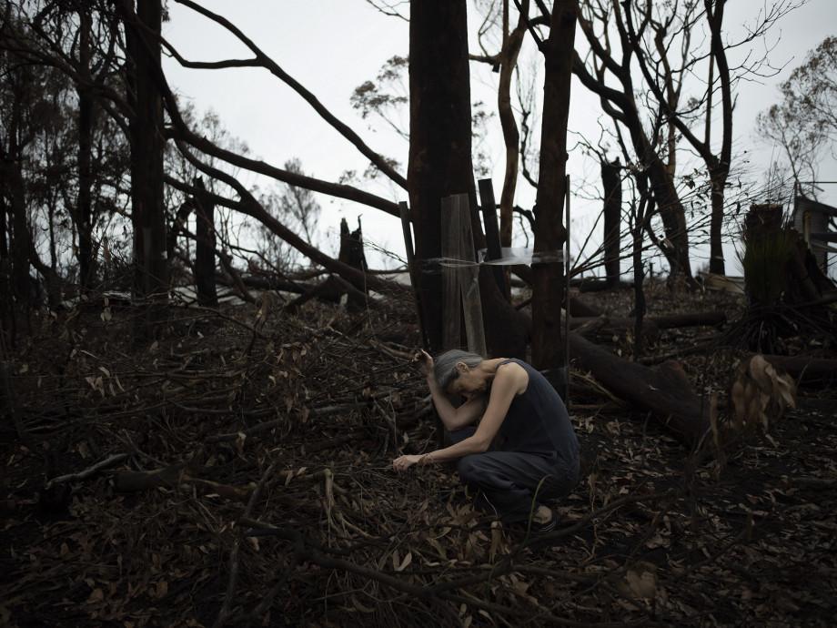 Zsuzsi Soboslay 'Dark and light angels: Dark pond/grief spirit' (detail), 2020, video, 5 mins 50 secs. Photo: Samuel James, shimmerpixel