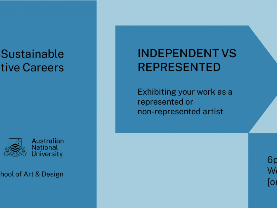 Sustainable Creative Careers: Independent vs represented artists banner