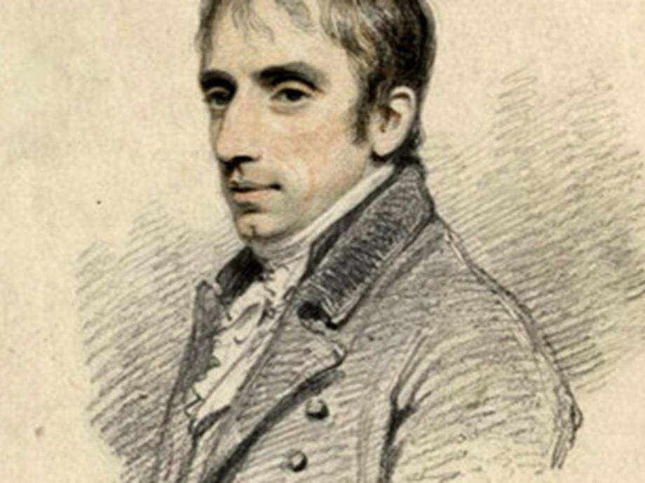 Illustrated portrait of William Wordsworth
