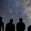 Students stargazing