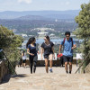 Students walking on Mt Ainslie