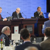 ABC political editor Chris Uhlmann, Professor Gareth Evans and Professor Hugh White. Image: Jack Fox.