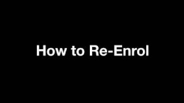 ANU - How to Re Enrol
