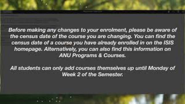ANU - How To Swap or Drop a Course